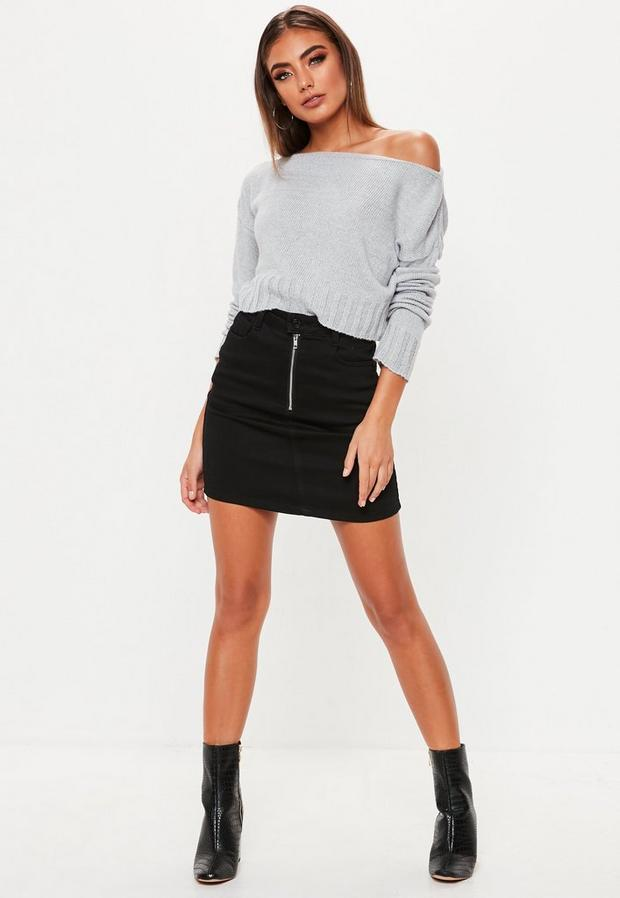Missguided - Off Shoulder Knitted Cropped Jumper - 2