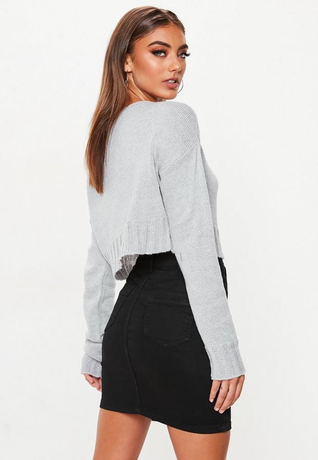 Missguided - Off Shoulder Knitted Cropped Jumper - 4
