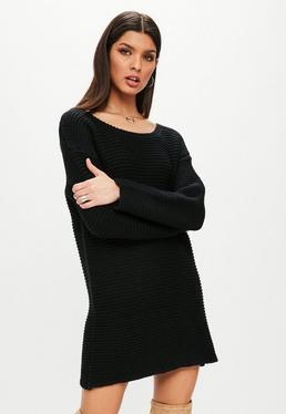 Black Chunky Oversized Sweater