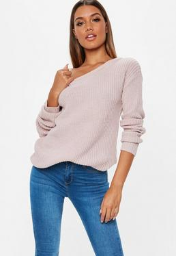 Off the Shoulder & One Shoulder Sweaters | Missguided