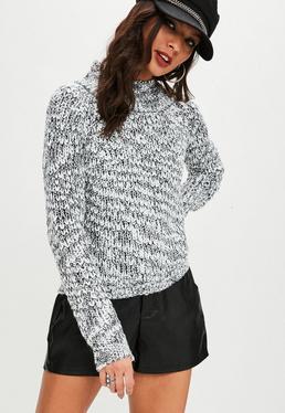 Gray Slub Yarn Sweater