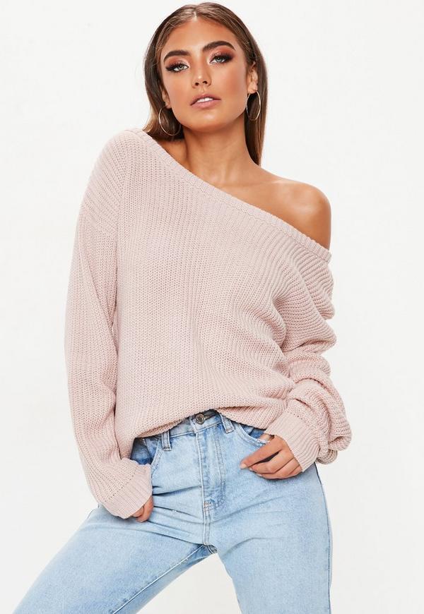Rose Off Shoulder Sweater Missguided