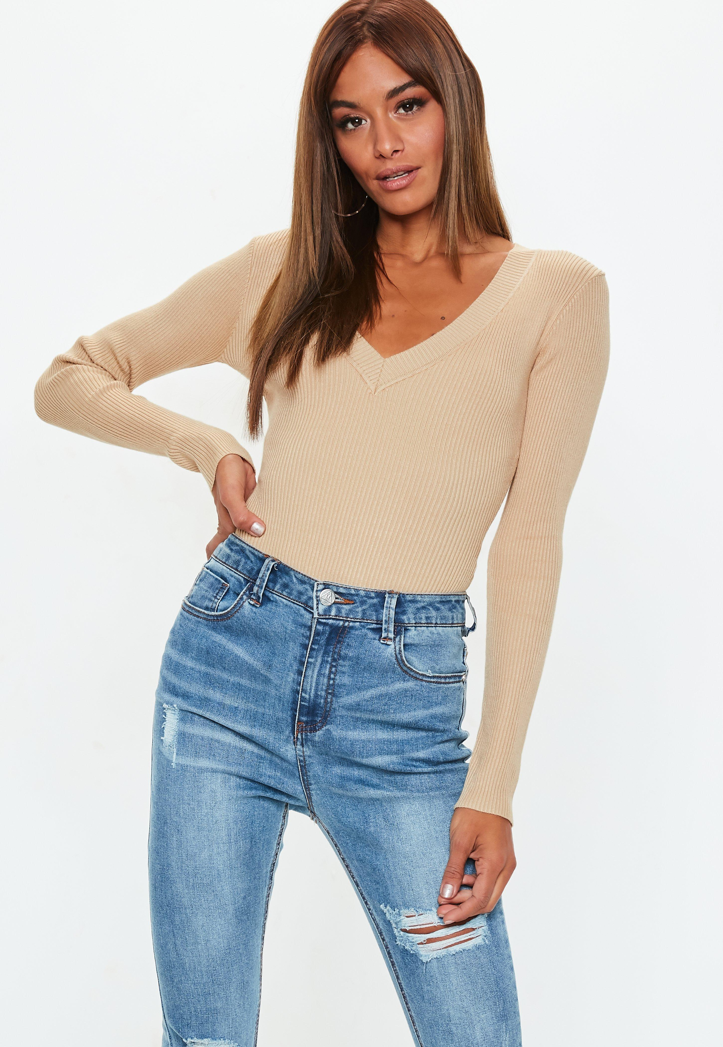 5b51a6a339 Knitted Bodysuits Online - Missguided