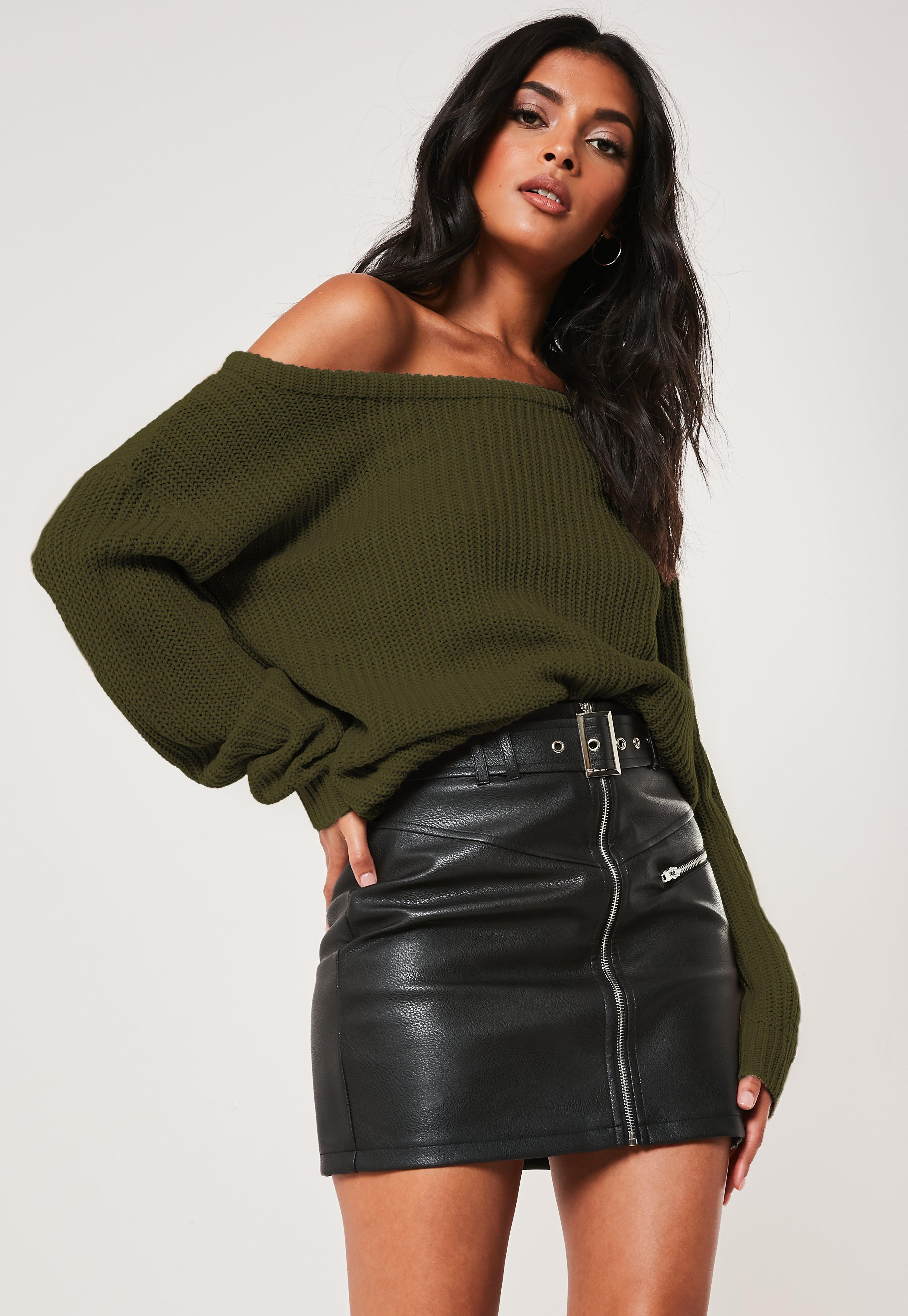 Off The Shoulder Jumpers Shop Bardot Jumpers Missguided