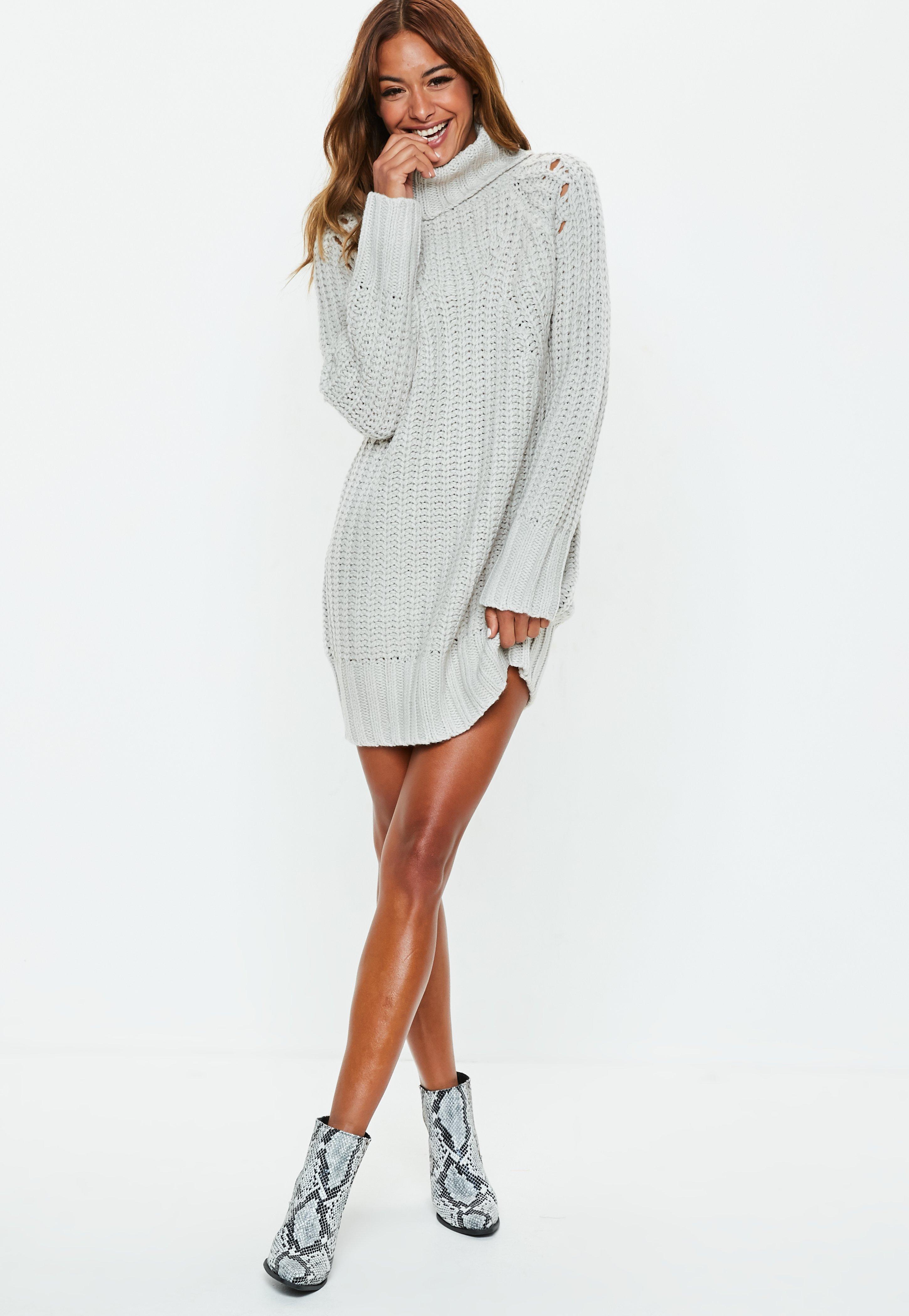 7ba92fb46f5c Jumper Dresses | Shop Knitted Dresses - Missguided