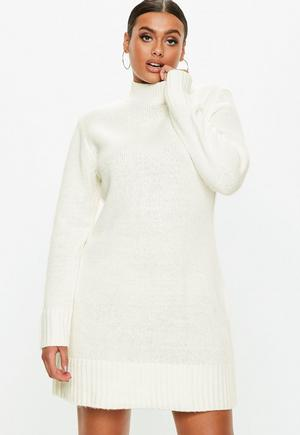 6ec879ab09 £11.00. white fluffy high neck jumper dress. select your size ...