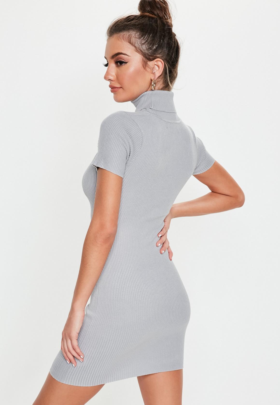 Missguided - robe courte côtelée e découpe dans le dos - 4