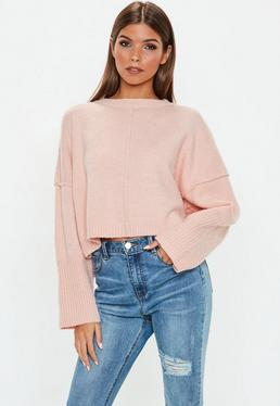 942dc97cb502 Nude Jumpers · Cropped Jumpers · Roll Neck Jumpers