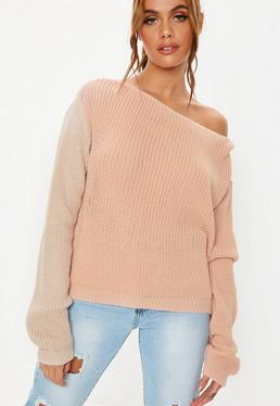 Off The Shoulder One Shoulder Sweaters Missguided