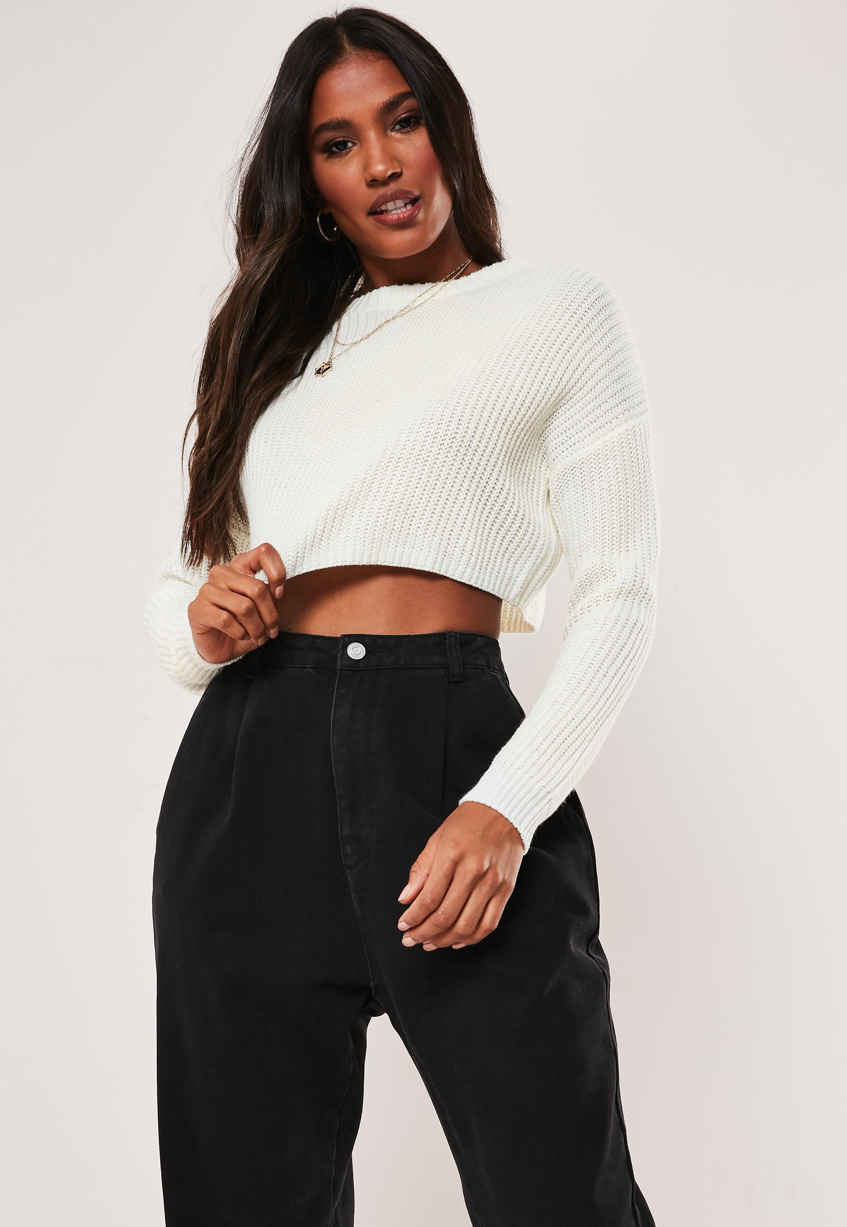 3c2bf8604b8 Cropped Sweaters | Knitted Crop Tops - Missguided