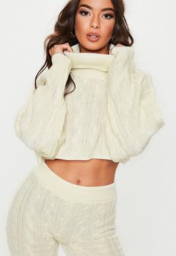 60bfe3d0b44 Cropped Jumpers Online, Knitted Crop Tops - Missguided