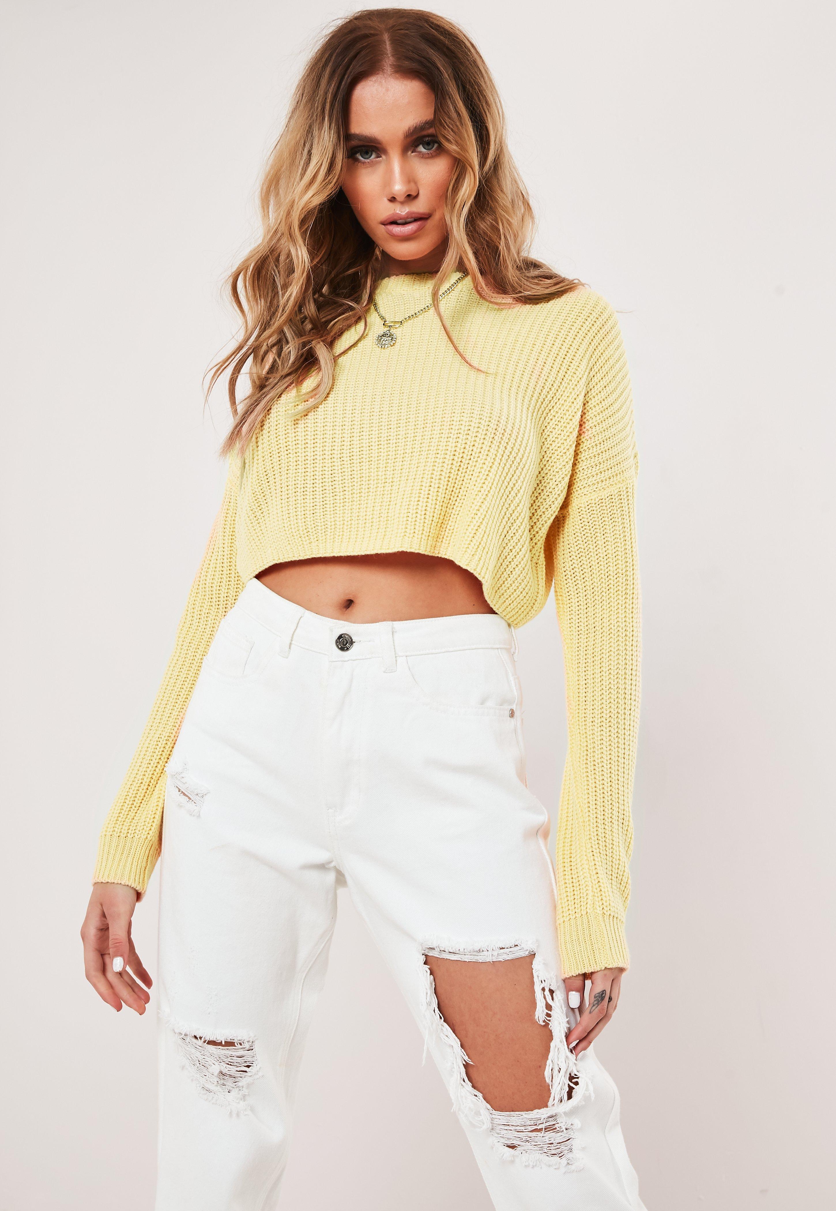 99a462d2a1a Lemon Basic Super Cropped Knitted Jumper