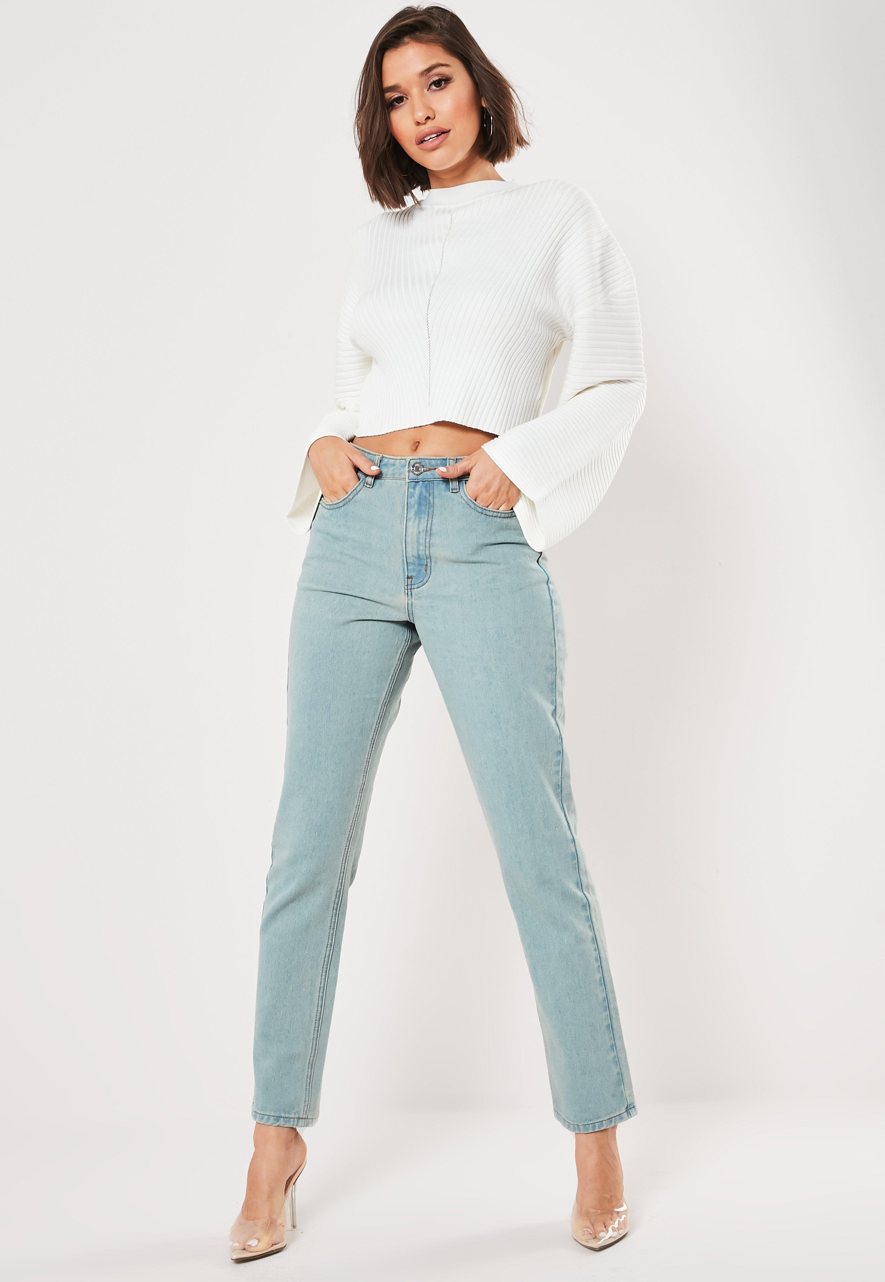 White Rib Wide Sleeve Jumper by Missguided