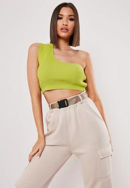 4e87f96949 Green Crop Tops | Dark & Olive Green Crop Tops - Missguided