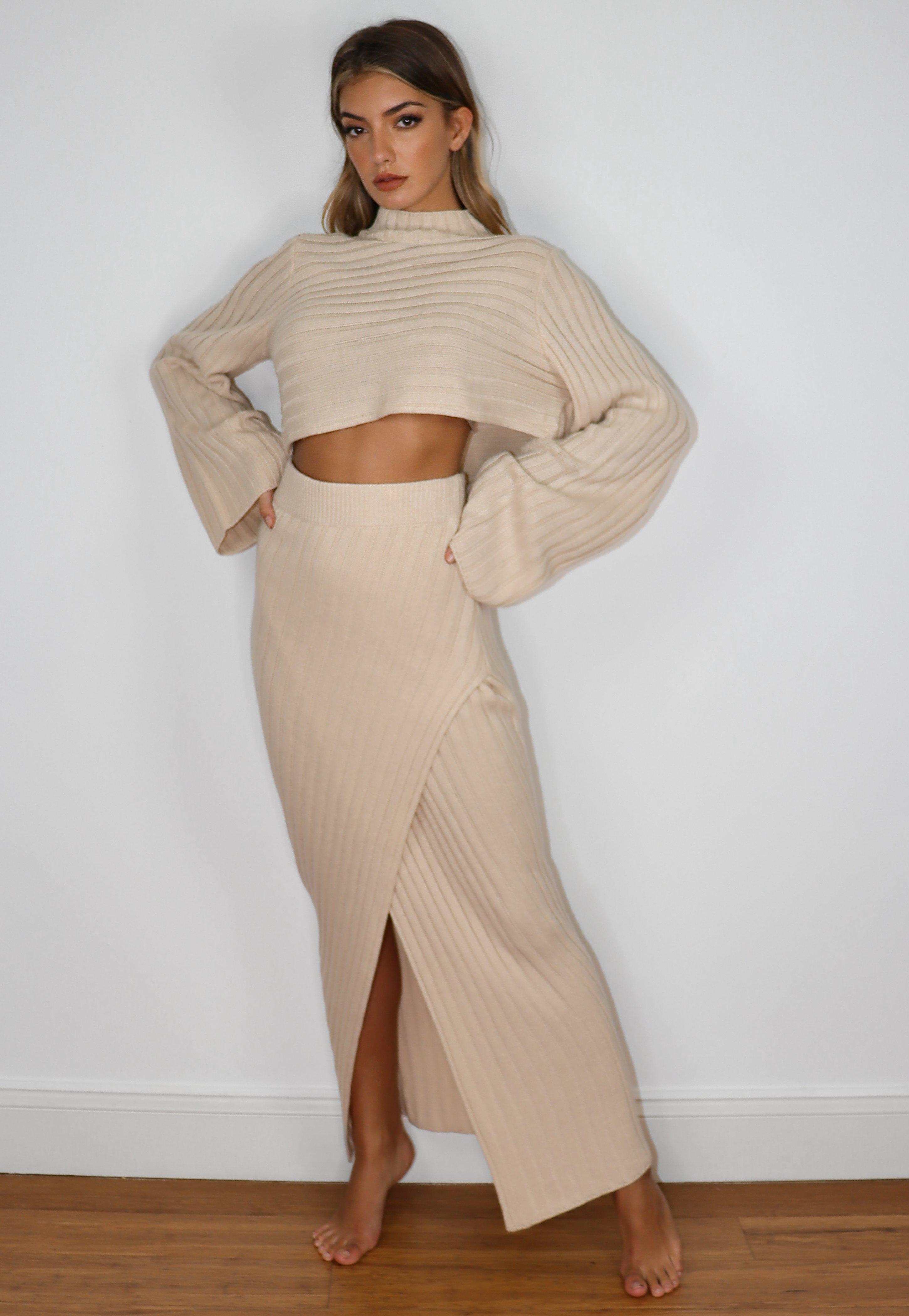Missguided Asymmetric Hem Wrap Nude Pink Dress Sizes 6-10