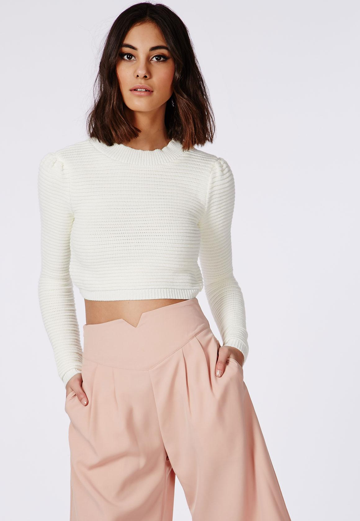Sale Manchester Great Sale Cheapest Cheap Online Missguided Knitted cropped Jumper bzTCAXCw4s