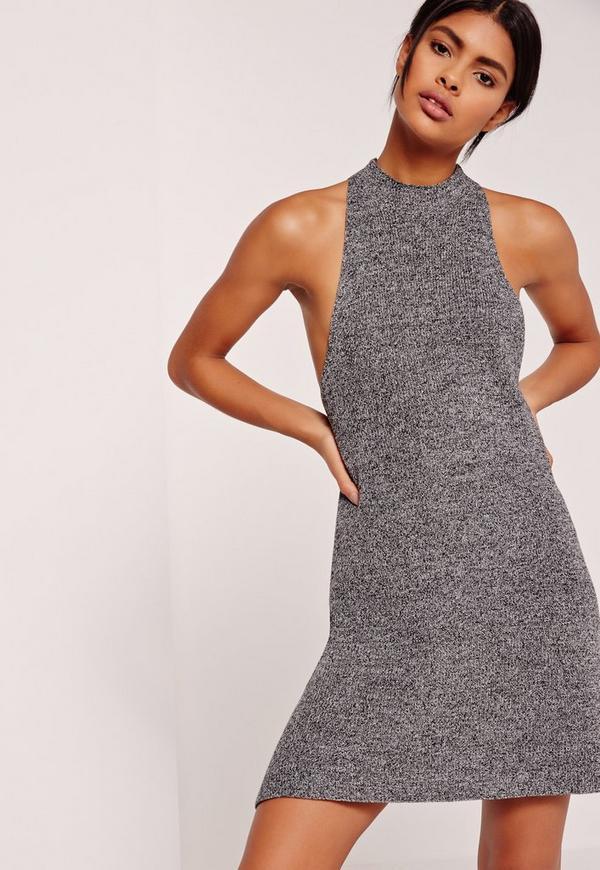 Drop Armhole Swing Dress Grey