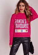 Santa's Favorite DIY Crop Jumper Pink