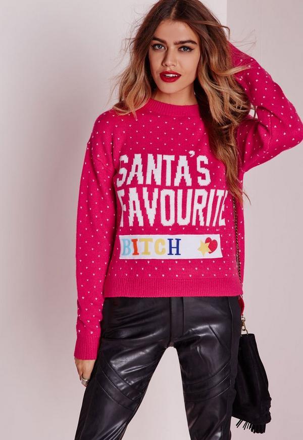 Santa's Favorite DIY Crop Jumper Pink