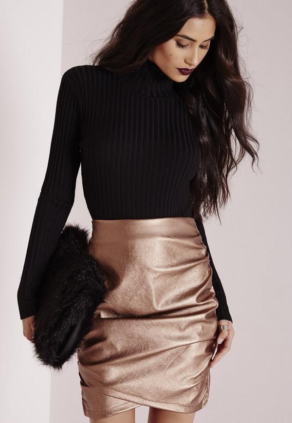 Long Sleeve Polo Neck Body Black