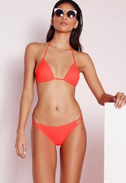 Moulded Triangle Bikini Top Coral - Mix & Match