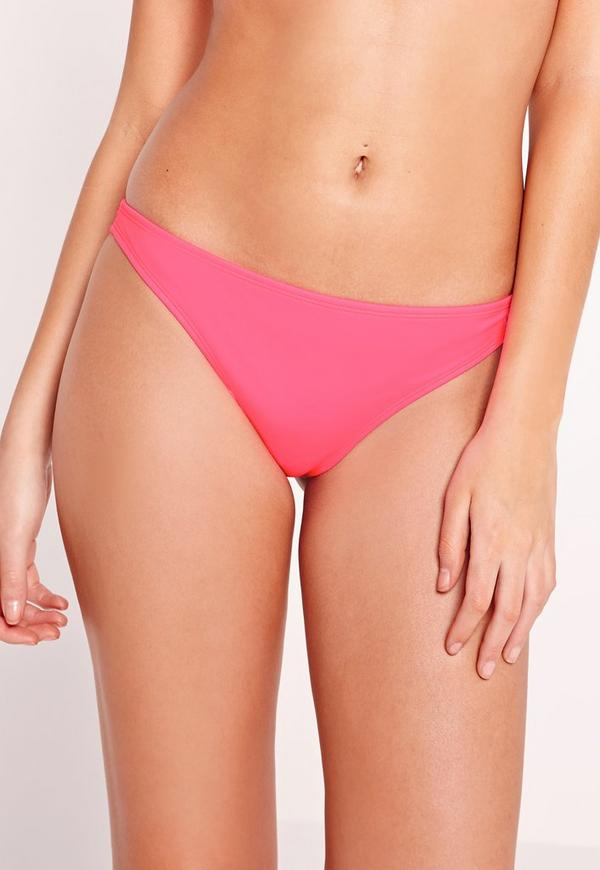 Super Cheeky Bikini Bottoms Hot Pink - Mix & Match