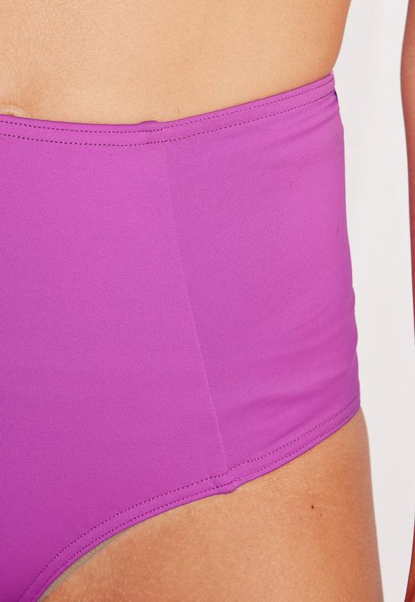 High Waisted Bikini Bottoms Hot Purple - Mix & Match | Missguided