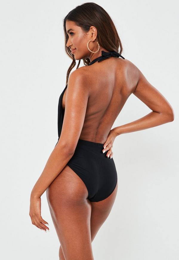 Backless Thong One-Piece Swimwear - BlackFor Women-romwe. 00 H 00 M 00 S. Backless Thong One-Piece Swimwear - Black; Backless Thong One-Piece Swimwear - Black. SKU:swimwear ({{manga-hub.tkt_num}}) Select size Size Chart Please Select Size! S M L. Bust (inch.
