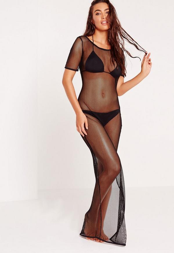 Fishnet Beach Maxi Dress Black Previous Next