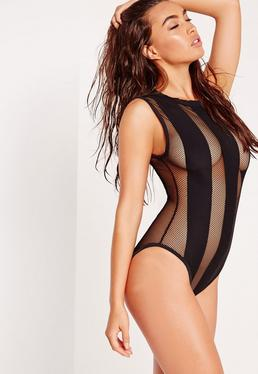 ABAD x Missguided Mesh Bather Black