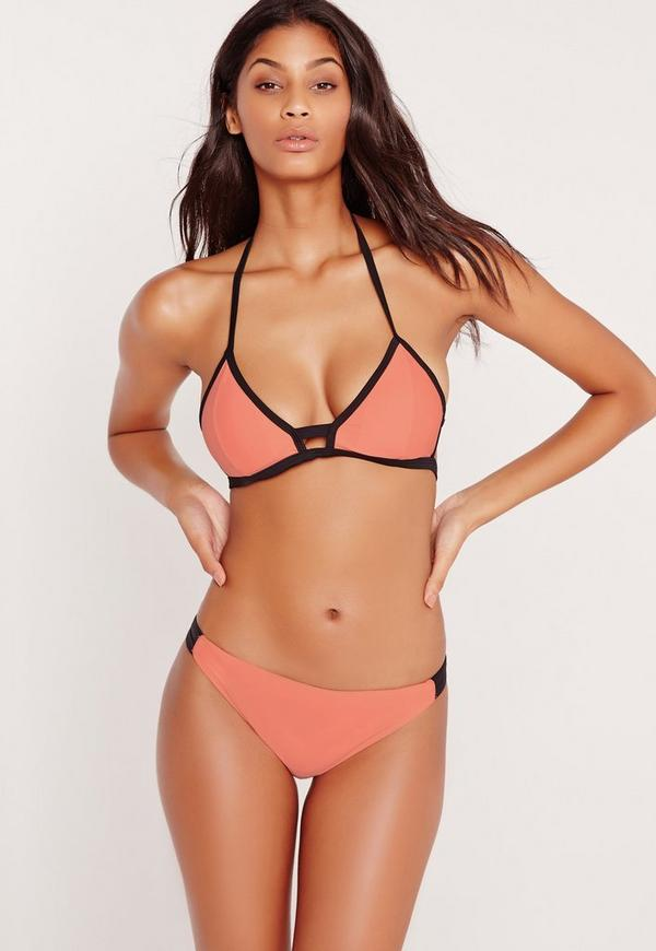 ABAD x Missguided Contrast Bikini Set Orange