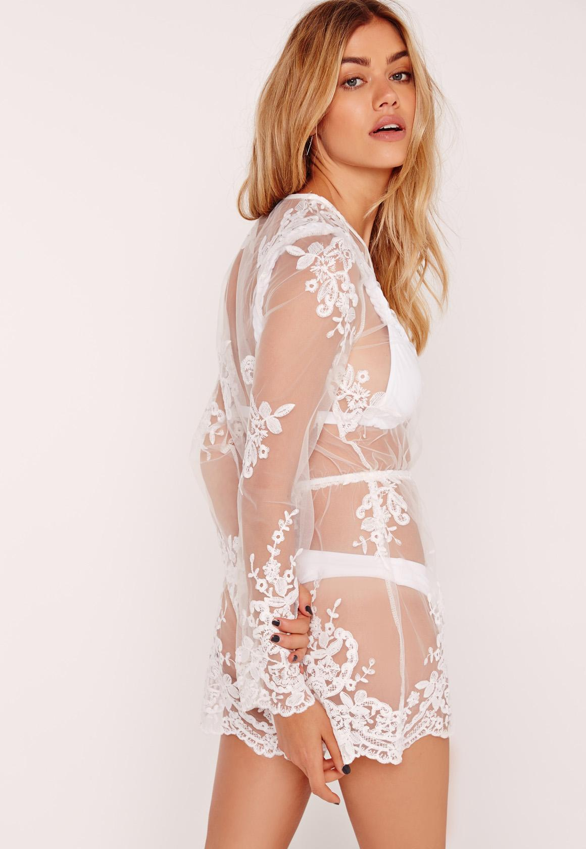 d163c9b81e4 Missguided Organza Lace Beach Playsuit White at £9.5