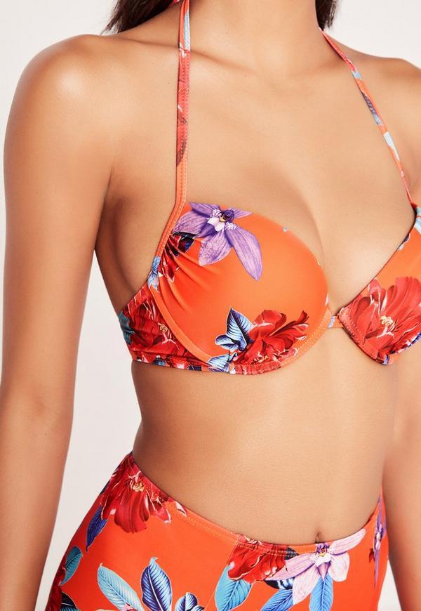 Orange bikini by itself