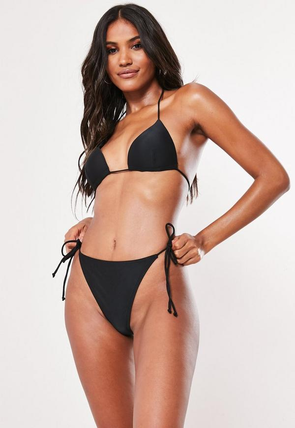 Tie Bikini Bottoms Black - Mix & Match