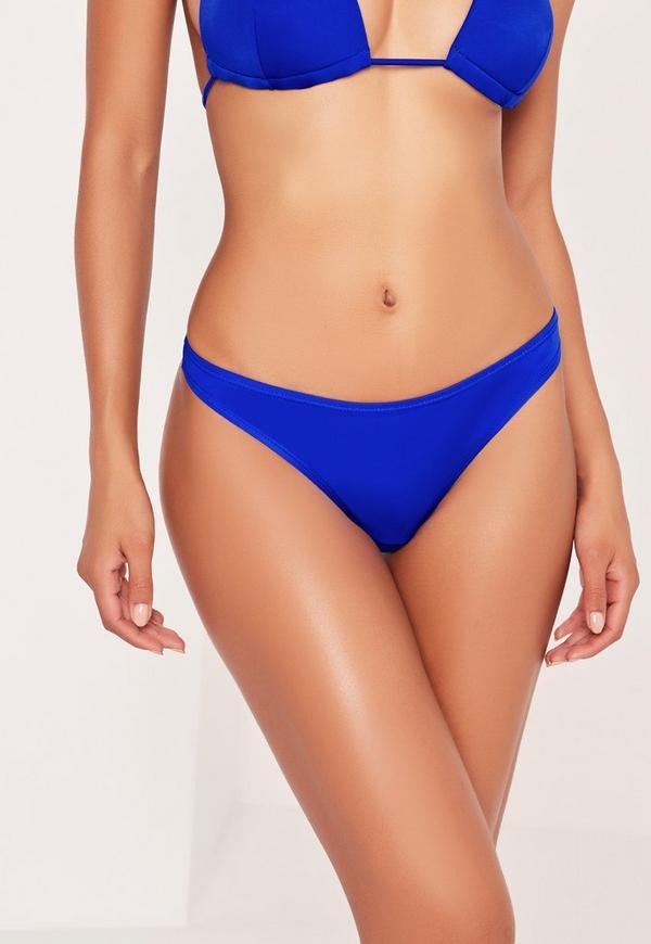 Cobalt Blue Super Cheeky Bikini Bottoms - Mix & Match