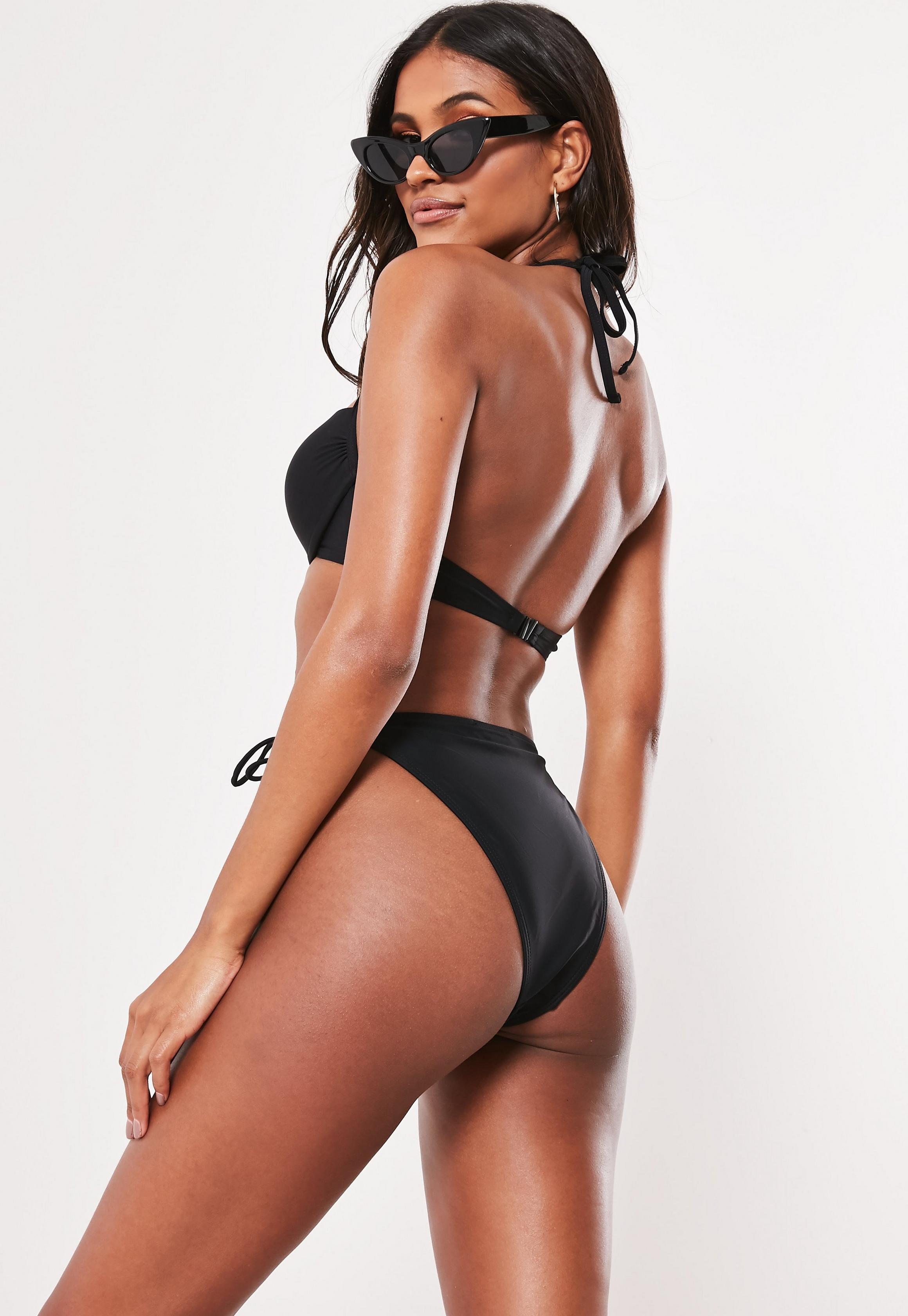 Missguided - Haut de bikini dos nu push up noir - 4