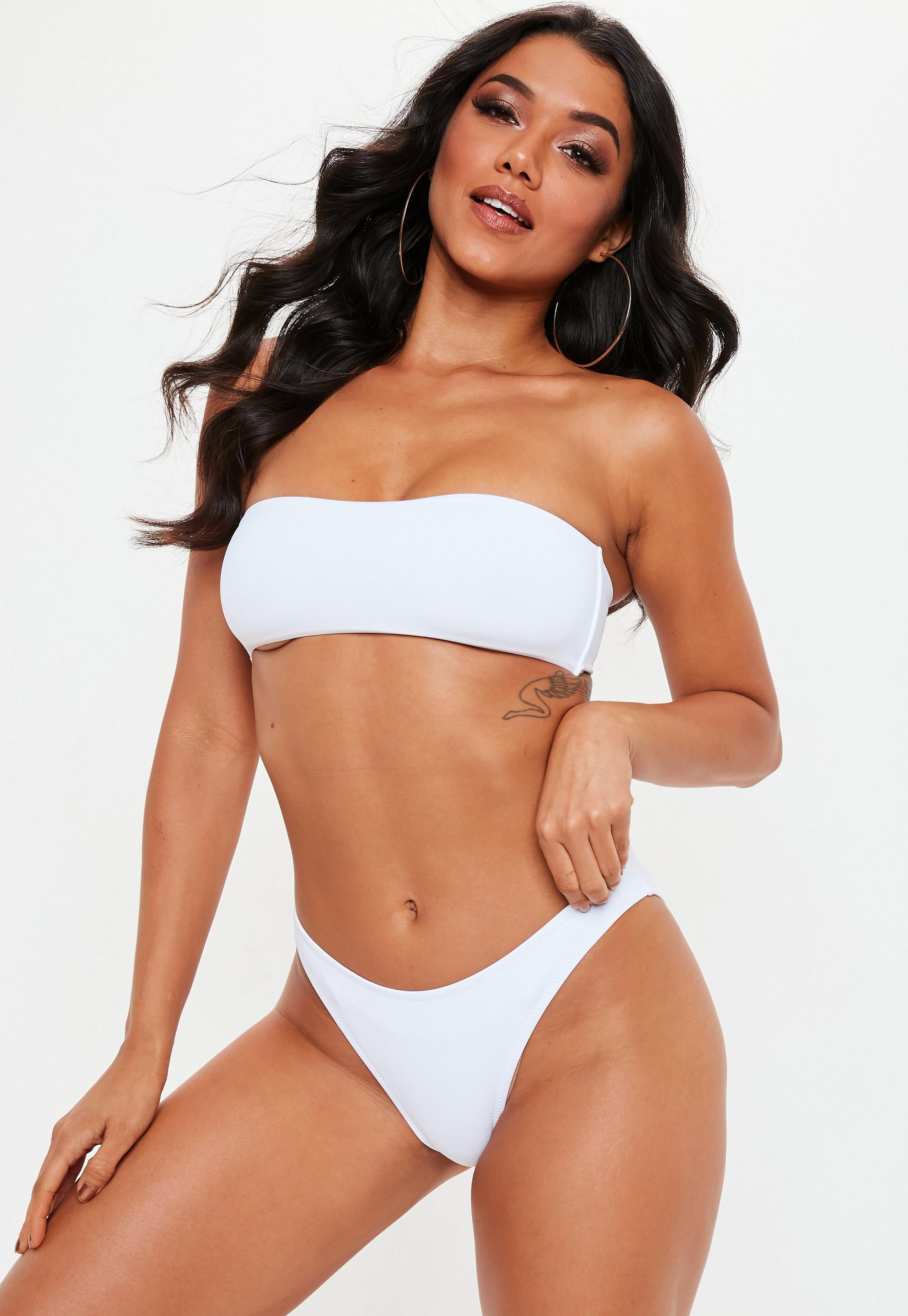 Missguided - Bas de bikini taille basse blanc - 2
