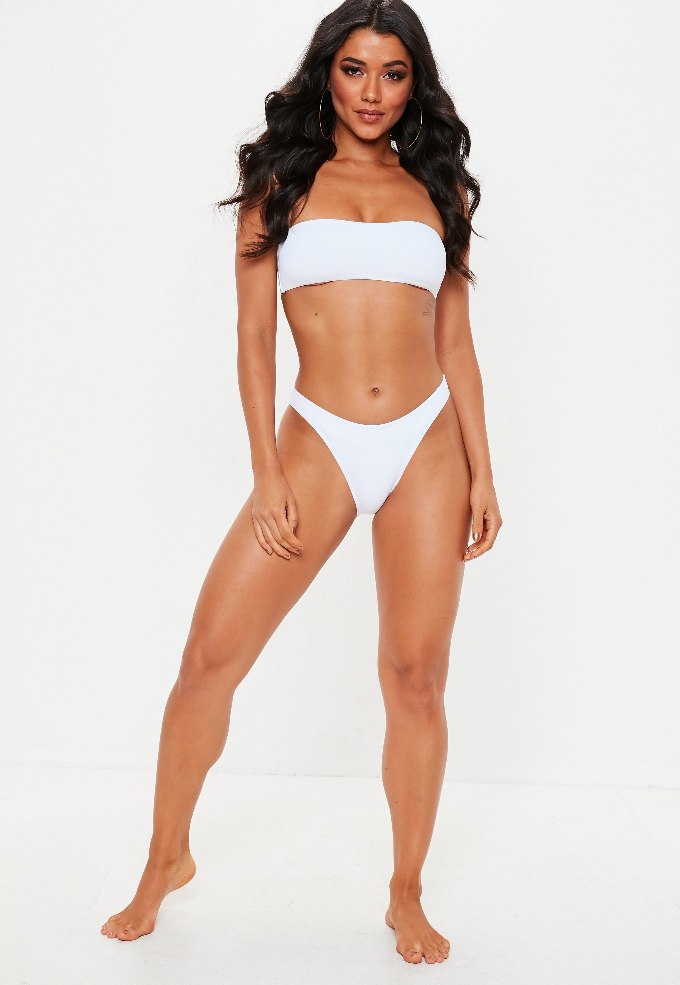 Missguided - Bas de bikini taille basse blanc - 3