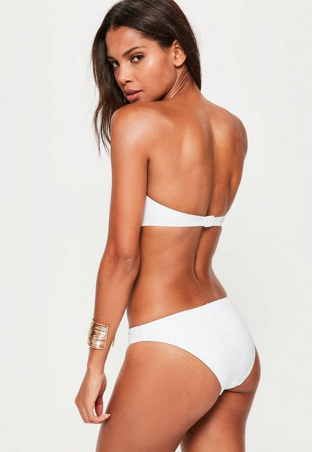 Missguided - White Twist Bandeau Bikini Top - Mix & Match, White - 4