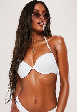 White Underwired Push Up Bikini Top - Mix & Match