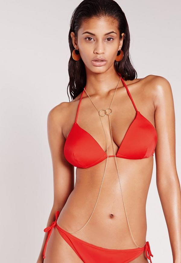 Moulded Triangle Bikini Top Red - Mix & Match
