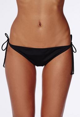 Bas de bikini à ficelles noir