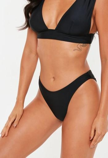 7fbeb598b0 Black Mix And Match High Waisted High Leg Bikini Bottoms ...