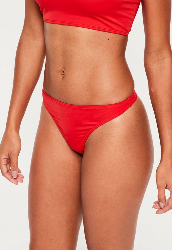 Red Super Cheeky Bikini Bottoms - Mix & Match