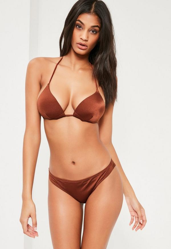 Rust Moulded Triangle Bikini Top - Mix & Match