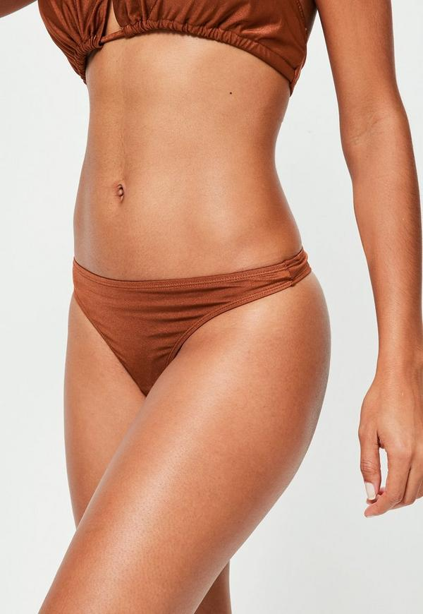 Rust Super Cheeky Bikini Bottoms - Mix & Match