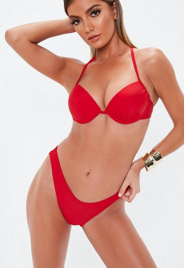 88174fe1b9 Underwired Push Up Bikini Top in Red - Mix   Match