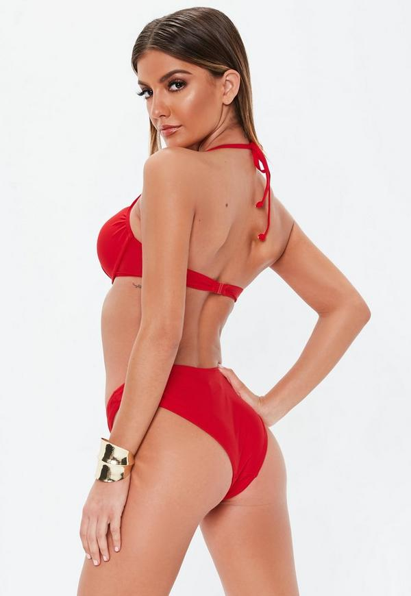 52d5ef02a7 Underwired Push Up Bikini Top in Red - Mix   Match. Previous Next