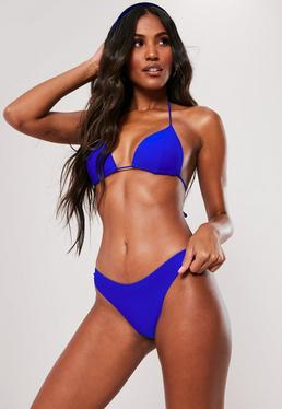 Top de bikini de triángulo moldeado azul cobalto - Mix & Match
