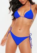 Cobalt Blue Tie Side Bikini Bottoms - Mix & Match
